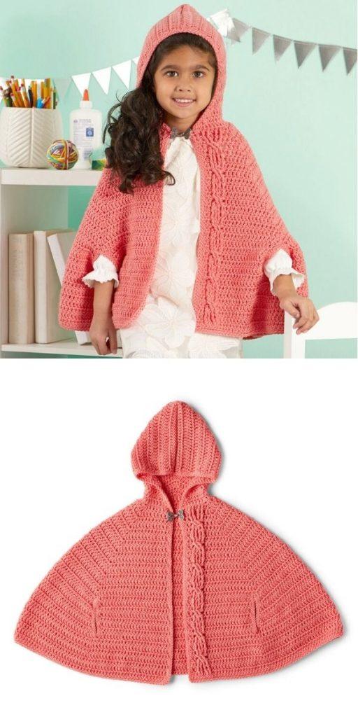 Elegante capa con capucha
