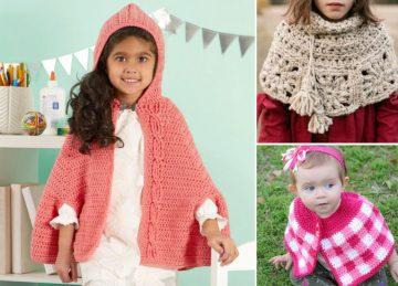 Girl's Ruffle Crochet Capelet Ideas
