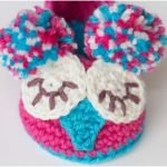 Owl Baby Crochet Booties