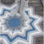 Rock Blue PoleStar Crochet Rug