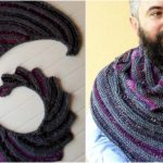 Hitch-Hiker shawl