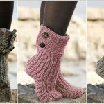 Moon Socks – Knitted slippers.