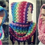 Crochet Rainbow Hood Cowl [Free Pattern]