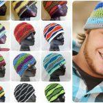 Crochet Brain Waves Beanie
