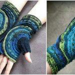 Kreisel Fingerless Crochet Gloves