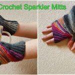 Crochet Sparkler Mitts
