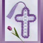 Happy Easter Crochet Cross. PDF