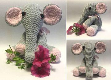 Lady Crochet Elephant - Free Pattern