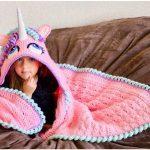 Beautiful Hooded Unicorn Blanket Crochet Pattern