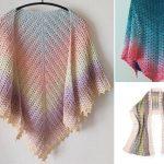 Delicate Feminine Crochet Shells Shawls