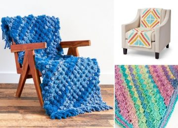 Colorful C2C Blankets for Your Home