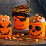 Halloween Jar Cozies with link Free Crochet Pattern