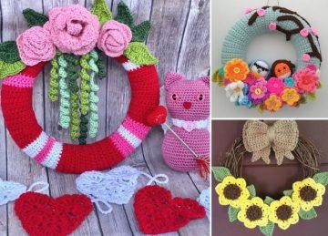 Beautiful Sunflower Crochet Wreaths