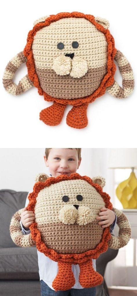 Huggable Lion Pillow