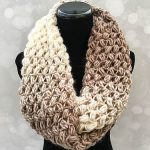 Coffee Bean Infinity Crochet Scarf with Free Pattern