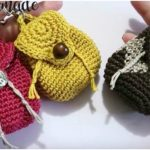 Miniature Crochet Backpack Keychain
