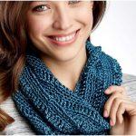 Easy Patons Drapey Crochet Cowl