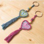 Heart Keychain Crochet Tutorial