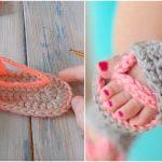 How to Crochet Baby Sandals FlipFlops [FREE]