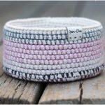 Mosaic Crochet Basket