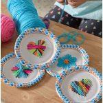 Paper Plate Weaving