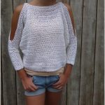 Rustic Textured Sweater Pulower Crochet Top