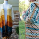Two-Rectangle Cardigan Crochet Apparel
