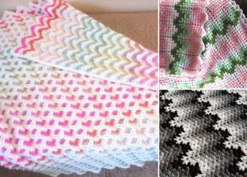 Heartbeat Ripple Crochet Blankets