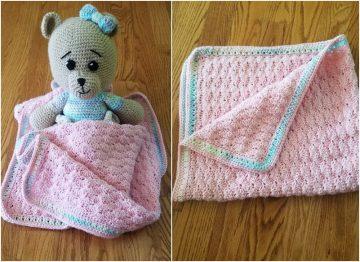 Free Crochet Pattern: Blanket for children Baby's Dream