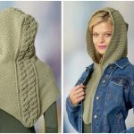 Cabled Hooded Cowl