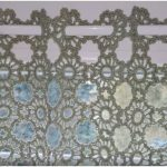 Crochet Curtain with Small Round Motifs