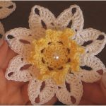 Crochet Doily Flower Tutorial and Pattern