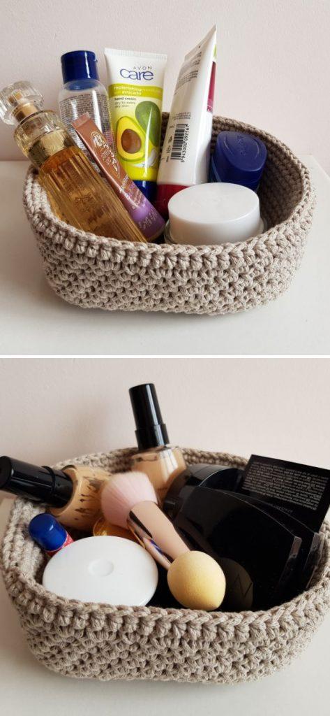 Beige square basket