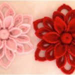 How to Easy Crochet 3D Flowers Woven