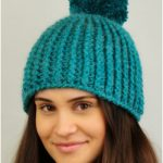 Ribbed Winter Crochet Hat with Free Pattern