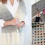 Feminine Textured Crochet Scarves