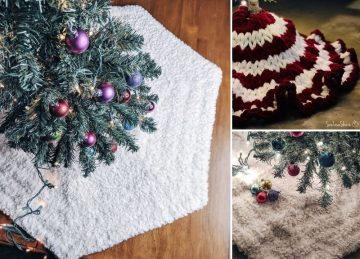 Amazing Christmas Crochet Tree Skirt Ideas