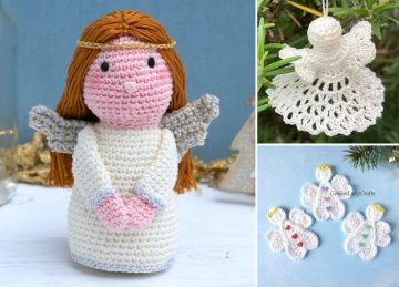 Crochet Christmas Angels Decorations