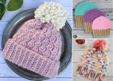 Cute Matching Crochet Hats Free Crochet Pattern