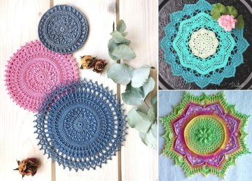 Decorative Lacy Crochet Doilies - Free Patterns
