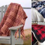 Beautiful Crochet Plaid Blankets
