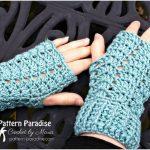 Charmed Fingerless Crochet Gloves with Free Pattern