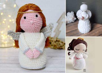 Crochet Christmas Angels Decorations