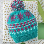 Vivid Fair Isle Knit Hat with Free Pattern