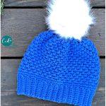 Winter Pom Crochet Hat with Free Pattern
