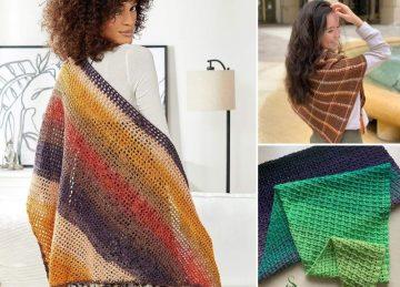 Lovely Colorful Feminine Shawls