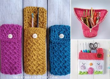 House of Hook Crochet Pouch with Free Pattern