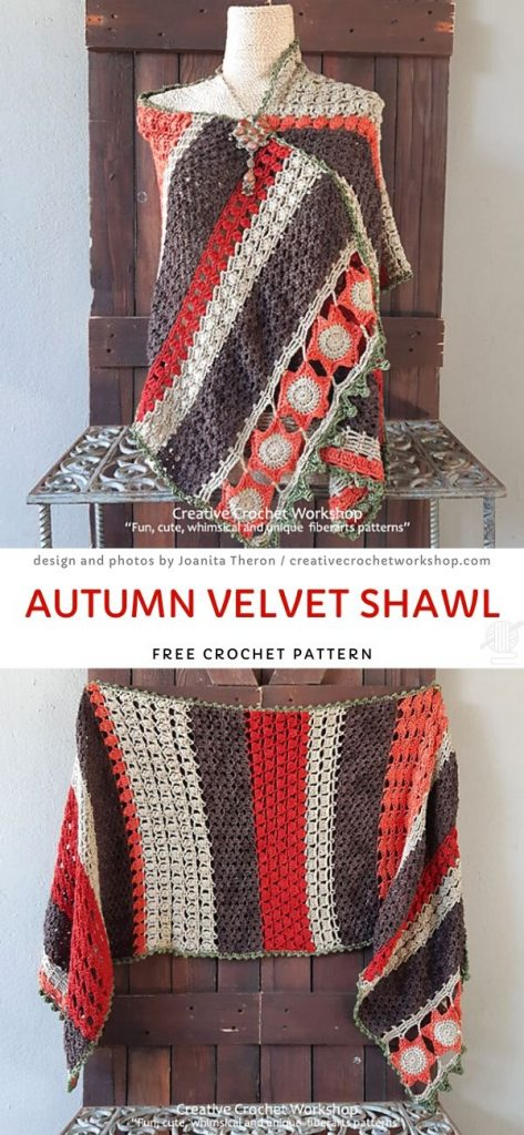 Autumn Velvet Shawl Free Crochet Pattern