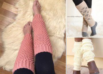 Boho Chic Crochet Legwarmers
