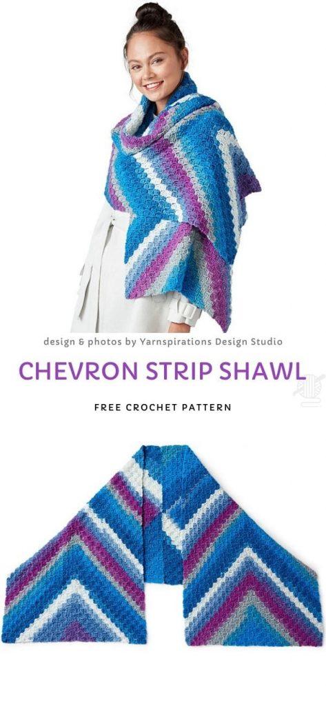 Chevron Strip Shawl Free Crochet Pattern_1